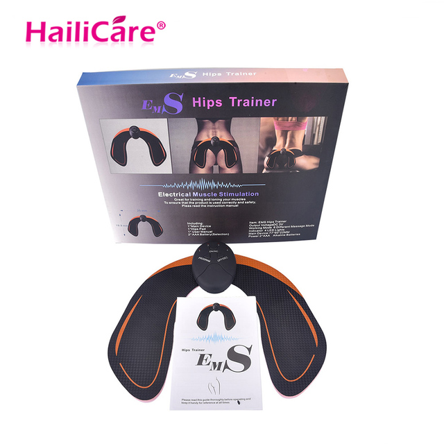 EMS Hips Trainer Body Slimming Massager Abdominal Muscle Training Stimulator Device Wireless Gym Professinal Home Fitness Gear
