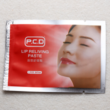 12Pcs/box Lips Permanent Makeup Lip Relieving Paste Tattoo Fixed Color Products Use Before Operation Pain Redlief