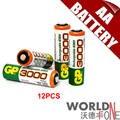 Gp 3000 mah batería aa 1.2 v ni-mh batería recargable para el juguete/led flashlight 12 unids/lote