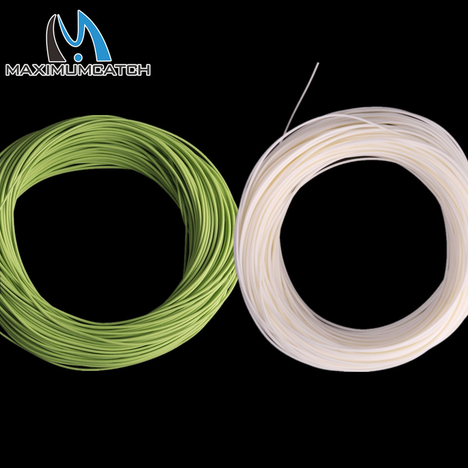 Maximumcactch 100FT DT flyveflyt Floating Fishing Line Double Taper 5 Farger 1-8wt Fly Fishing Line