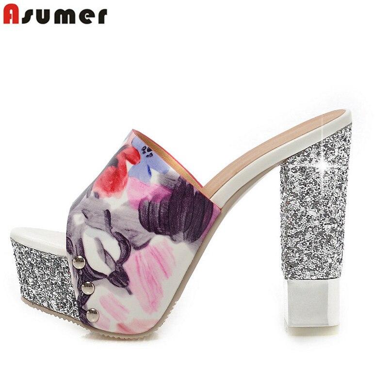 Women Sandals High-Quality Platform-Shoes Open-Toe Summer Ladies Fashion Slides