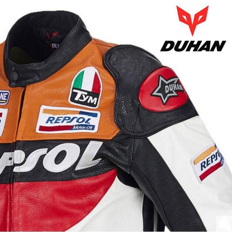 Offre spéciale DUHAN moto rcycle vêtements moto racing costumes REPSOL PU cuir hommes moto rbike veste vêtements printemps manteau - 4