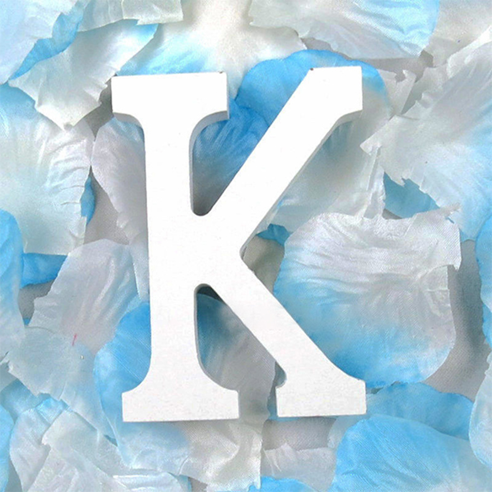 3D деревянные буквы letras decorativas персонализированное Имя Дизайн Искусство ремесло деревянные украшения letras de madera houten буквы - Цвет: K