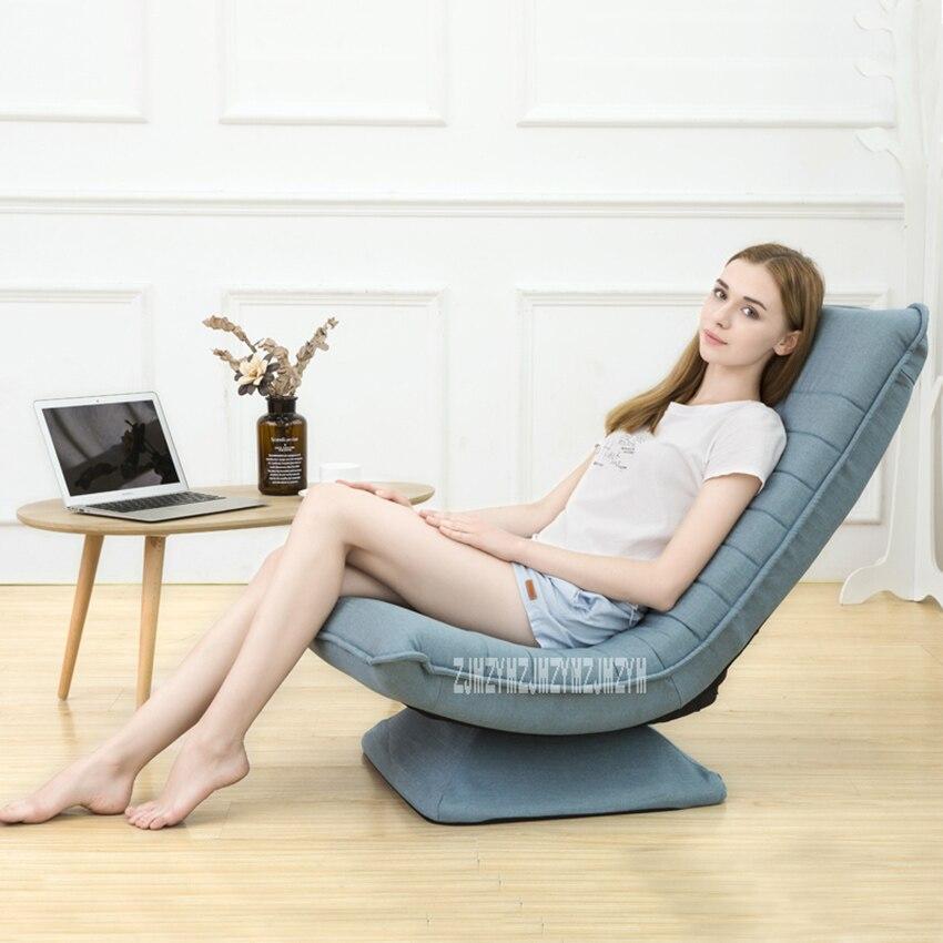 Galleria fotografica X3 Moderna Semplice Chaise Lounge 5-Regolazione del Cambio Telaio In Acciaio Divano Pigro 360 Gradi di Rotazione Soggiorno Lavabile Pieghevole sedia