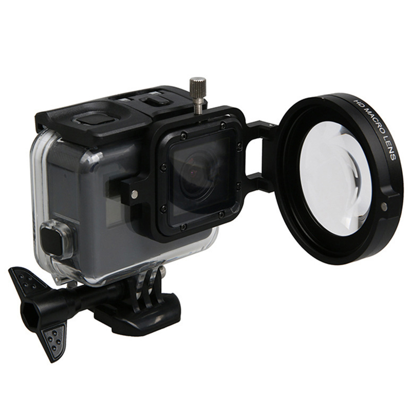 For Go pro 58mm +16 Times Magnifier Colse-up HD Macro Lens Filter Adapter Ring for GoPro HERO 8 7 6 Action Cameras Accessories