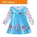 Meninas blusa Tops impresso flores bonitas 2014 primavera outono New Kids t-shirt Casual para brasão 2-6a roupa do bebê