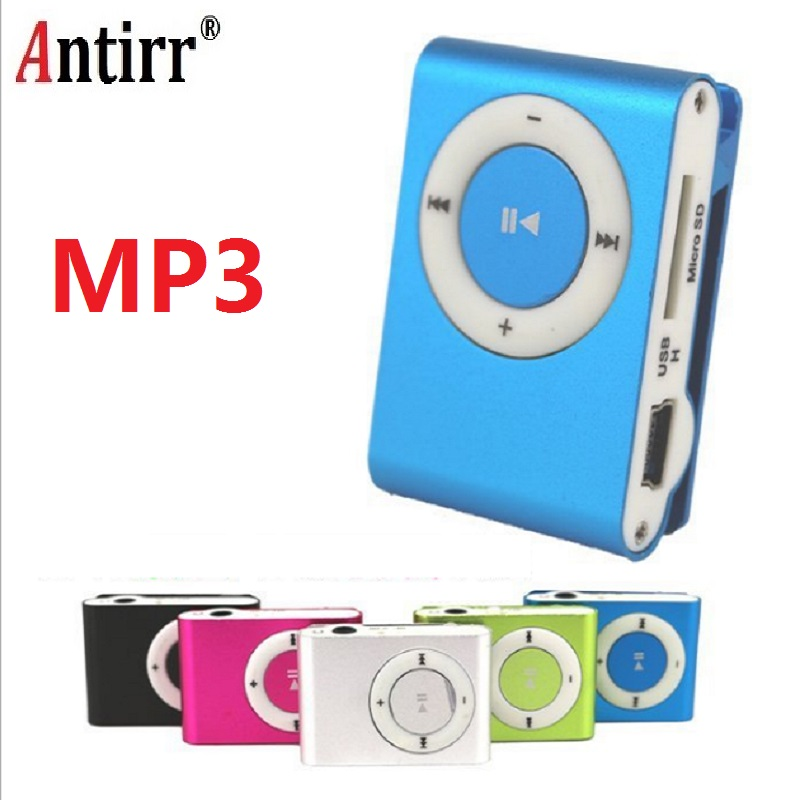 Portable Metal Clip MP3 Player With 8 Candy Colors No Memory Card Music Player With TF Slot Free Shipping