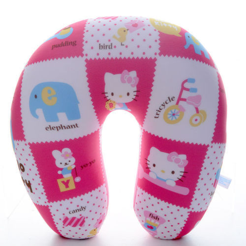 New Arrival Soft Cartoon Microbead Pink Hello Kitty Travel U Shaped