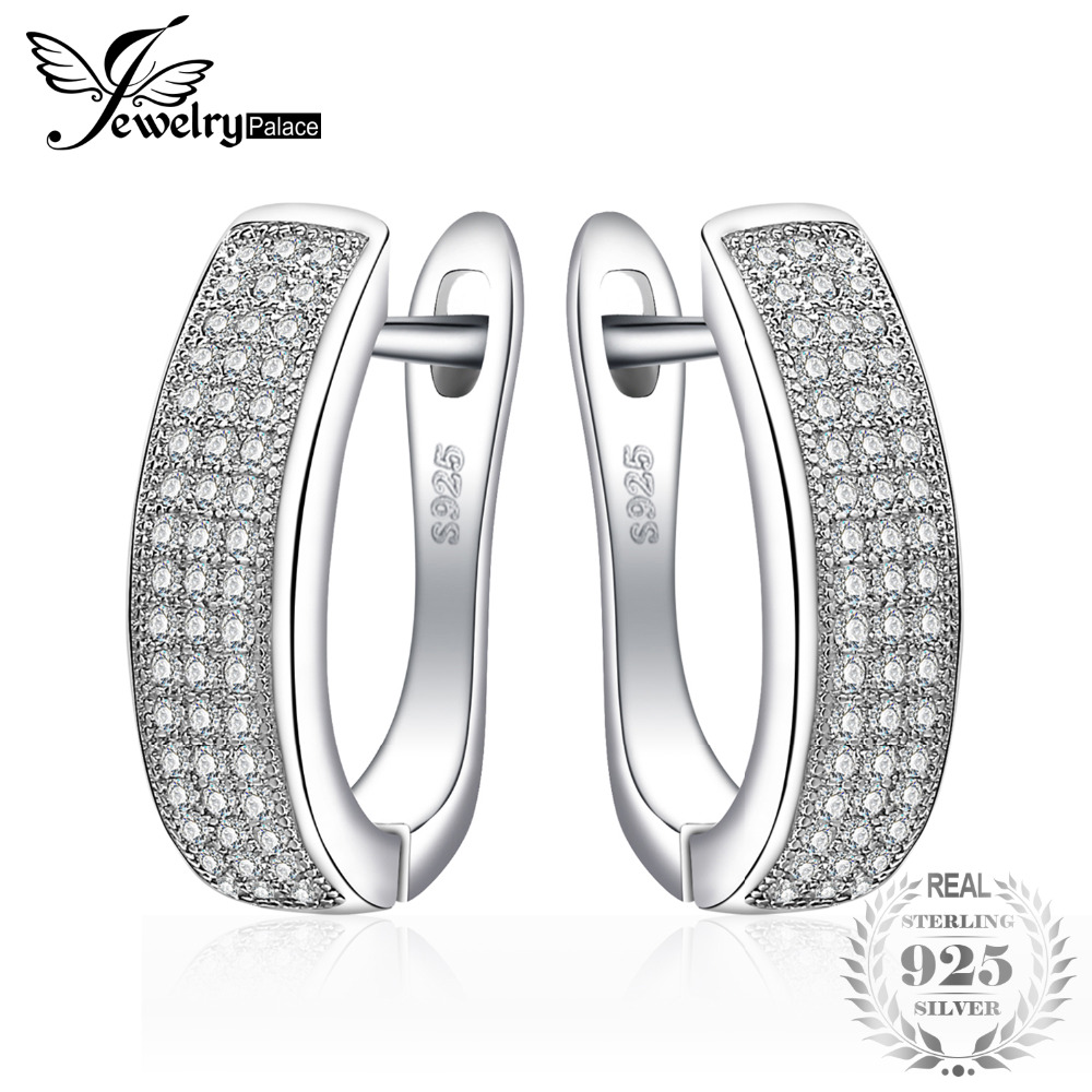 JewelryPalace 0.5ct Anniversaire Canal Set Eternity boucles d'oreilles clip Réel 925 Sterling Bijoux En Argent Pour Femmes à vendre
