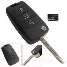 New Arrival Car Key Shell Fob Replacement 3 Button Flip Remote Key Case Blank Cover For Kia Rondo Rio K2 K5 Sportage For Hyundai