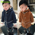 KEAIYOUHOU 2016 New Winter Boys Jackets Long Sleeve Hooded Jacket Coat Kids Boys Warm Outerwear Coat Baby Jacket Children Cothes