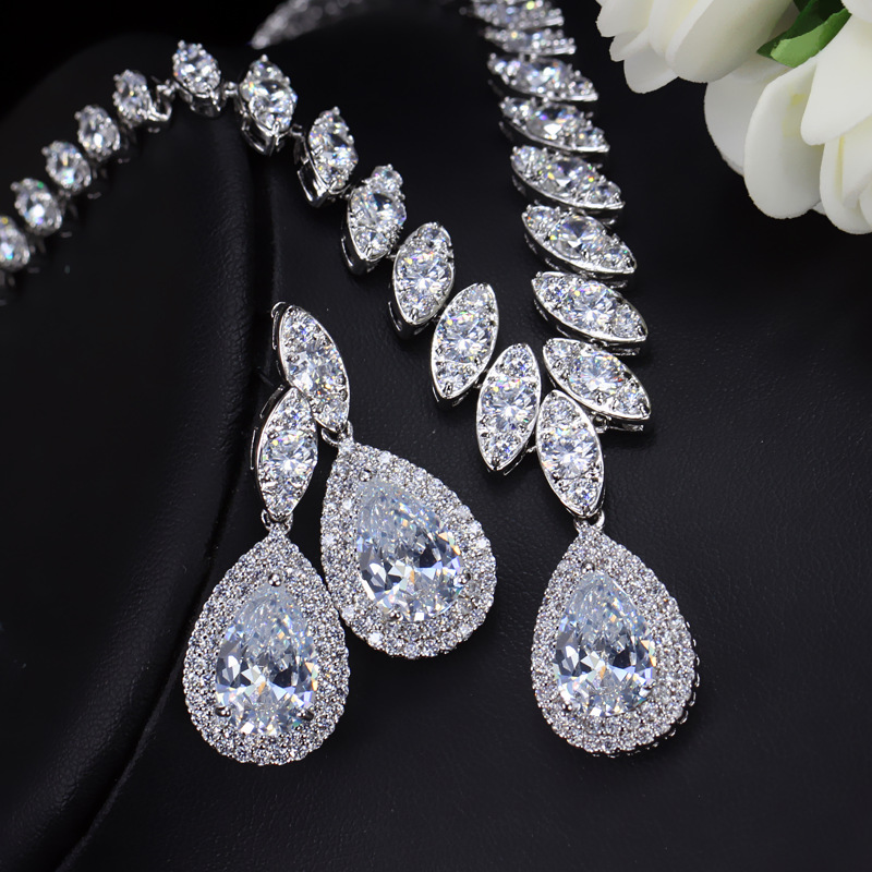CWWZircons High Quality Cubic Zirconia Wedding Necklace ...