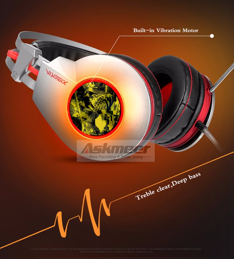 XIBERIA K5 Comfortable USB Over-Ear Pro Gaming Headset for PC with Surround Sound Flexible Microphone (5)