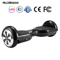 (EU) Bluetooth 6.5 Megawheels Self Balance Electric Scooter with Remote Control Bag DE Warehouse Free DHL Shipping (Black)