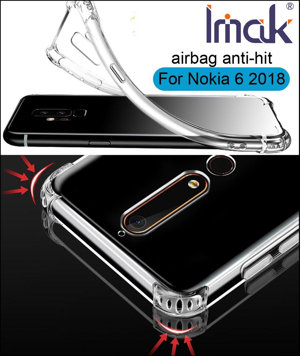 IMAK Airbag Clair Transparent Cas Pour Nokia 6 2018 Souple TPU Silicone Couverture