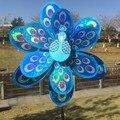Multicolor Pavão Diy Moinho De Vento Decorativo Ao Ar Livre Por Atacado Fabricantes Que Vendem Crianças Brinquedos de Plástico Laser Dobro do Sequin