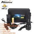 ALONEFIR CREE C8s 2200 Люменов cree xml L2 высокой мощности светодиодный фонарик Факел Свет Лампы + 18650 + зарядное зарядное устройство
