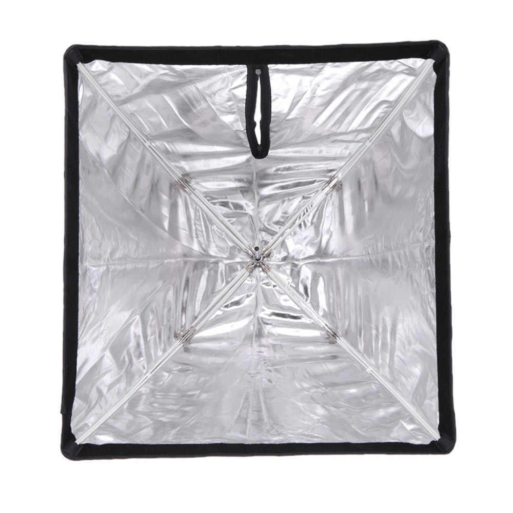 50*70/19.68in * 27.55in Godox Portabel segi empat Payung Softbox Brolly Reflector untuk Speedlight Flash Light Photo Studio