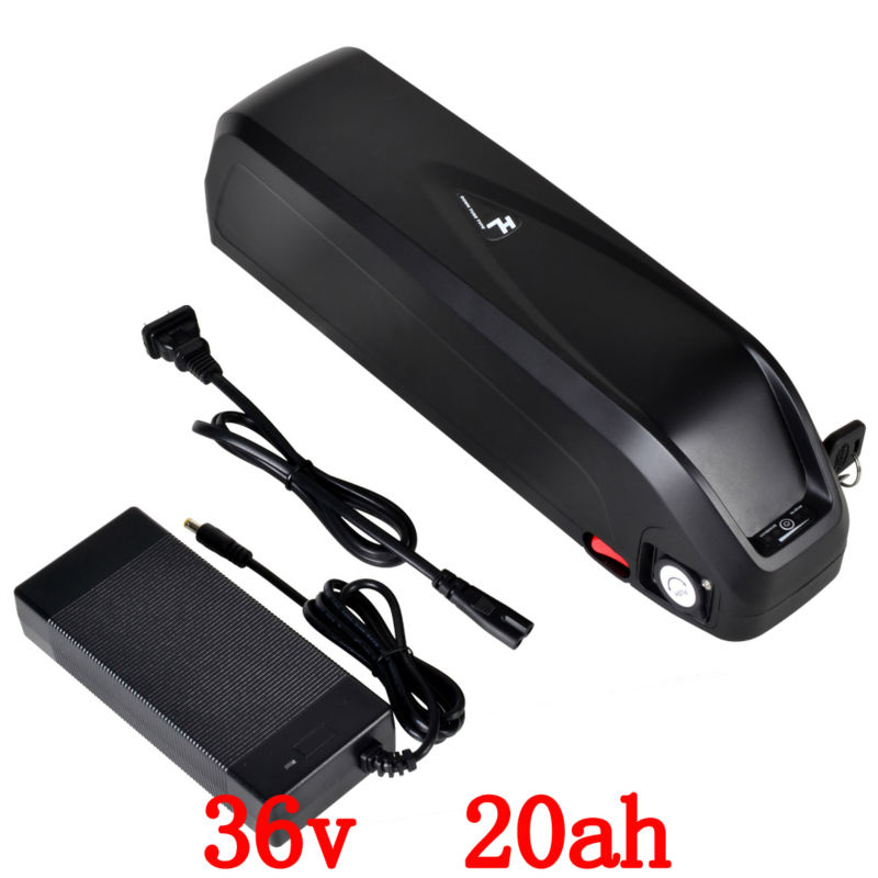 EU No Tax Hailong down tube Ebike Battery 36V 20Ah use for LG 3400mah cell Lithiumion Electric Bicycle Battery Pack with charger hot sale b 05 48v10 4ah ebike tube battery