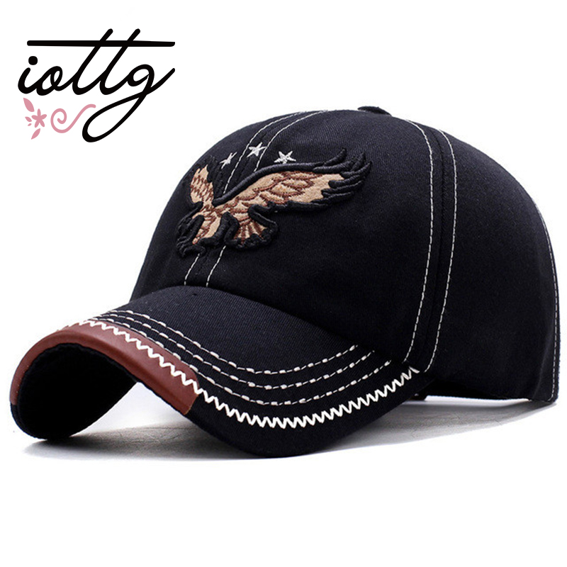 IOTTG 2018 New 3D Eagle Embroidery Baseball Cap Male Cap Hip Hop Flat Along Snapback Hats Lovers Cap For Men And Women new 2017 hats for women mix color cotton unisex men winter women fashion hip hop knitted warm hat female beanies cap6a03
