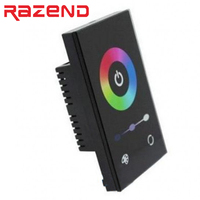 New TM08U Full Color RGB LED 12 24V Touch Panel Controller Wall Switch Dimmer Control 12A