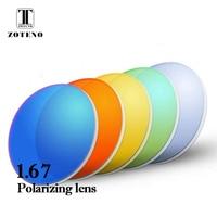 1.67 Index Polarized Prescription Lenses Anti UV400 Outdoor Sports Driving Myopia Optical Sunglasses Lenses