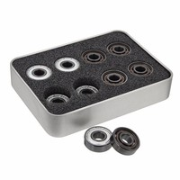 MTGATHER 16Pcs 608 8x22x7mm Skate Roller Inline Pro Bearings With 6 White Beads Shafts