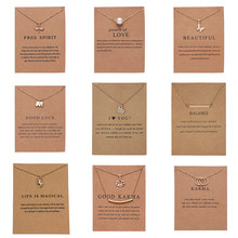 Liste&Luke Craft Paper Fashion Gold-color Good Vibes Only Sun Necklaces & Pendants For Women Jewelry(China)