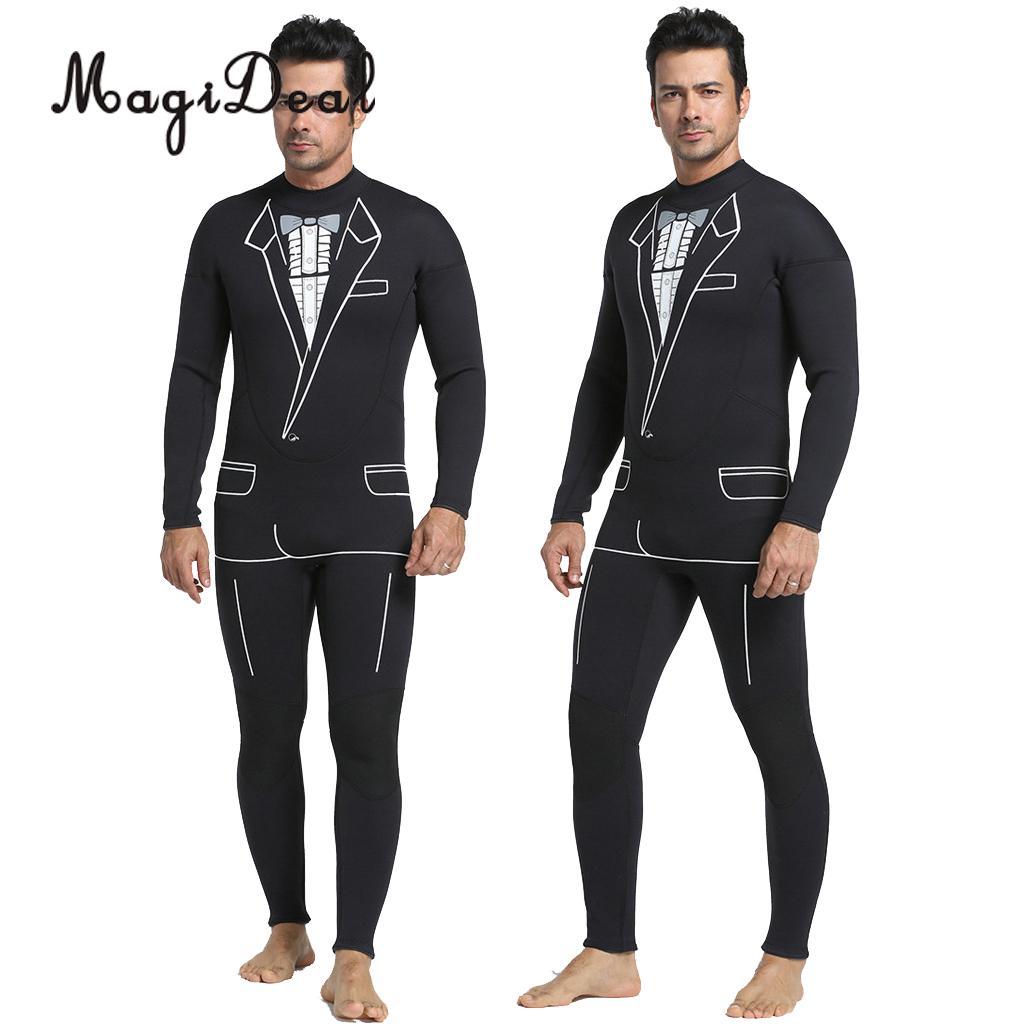 Phenovo Full Body Tuxedo Style Wetsuit Mens 3mm Premium Neoprene Jump Surf Surfing Scuba ...