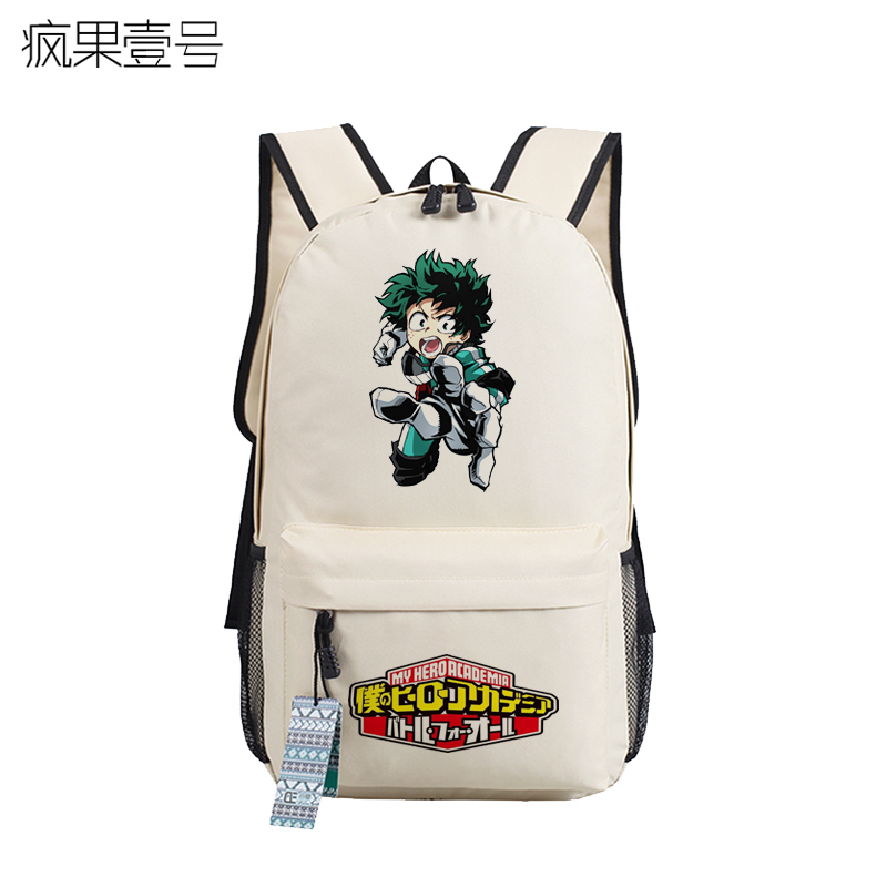 Anime Boku no hero academia Cosplay Cartoon student campus casual backpack male and female backpack child birthday gift anime death note cosplay anime backpack male and female student bag travel backpack