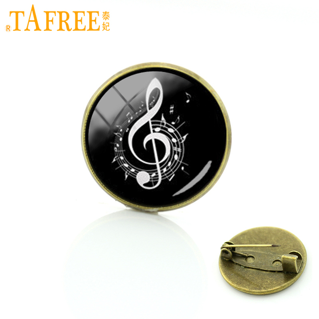 TAFREE Symphony music note pins promotion fancy musical note badge Wholesale for men women wedding business brooches gift T822