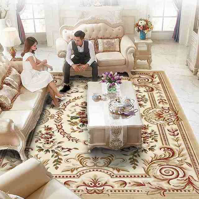 European Style Soft Comfortable Carpet Rugs For Living Room Bedroom Coffee Table Sofa Floor Mat Study Area Rug