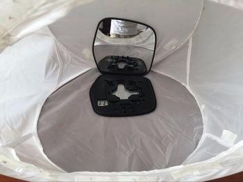 RH Ala laterale Auto Specchio di Vetro di Ricambio Toyoto Land Cruiser 1997-2003 piastra + riscaldata