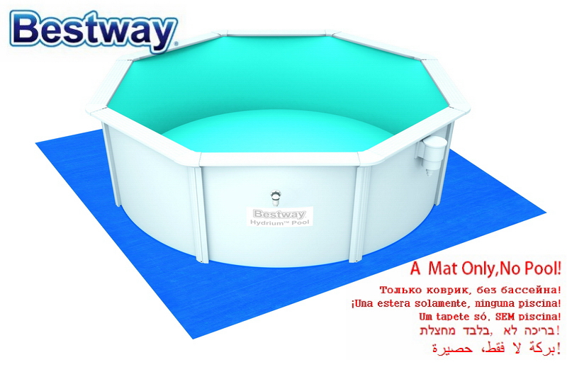 Only A Mattress 3.96mx3.96m Bestway 58002 13'x13' Ground Cloth Mattress For Swimming Pool Prective Ground Cloth Not A Pool