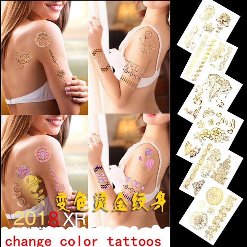 Krasivyy ideiglenes tetováló matricák nap változó színes - Tetoválás és testmûvészet