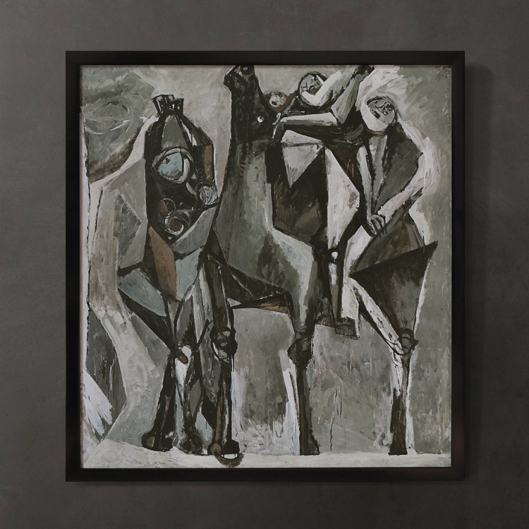 Nordic expression import original decorative painting italian artist marino marini cavalry and dance on aliexpress com alibaba group