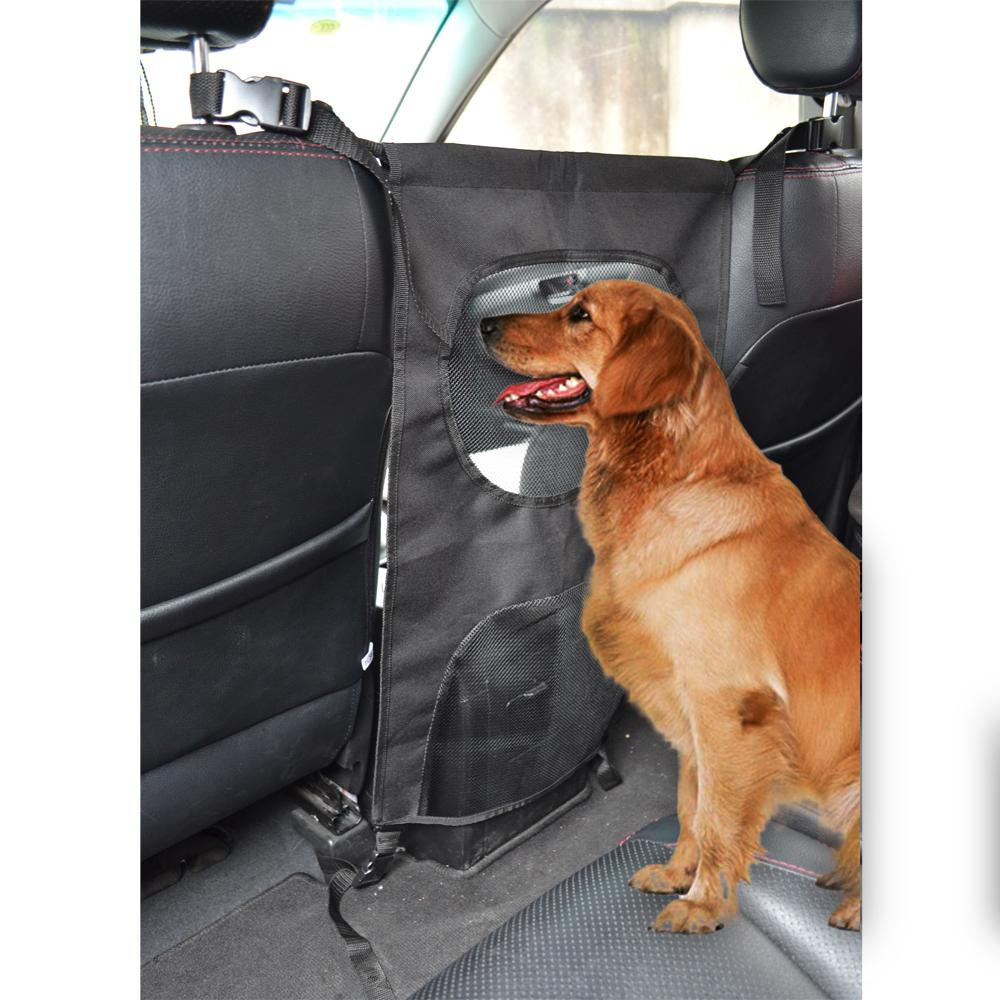 vehicle pet carrier safety mesh dog car front seat protector for most cars suv prevent dogs. Black Bedroom Furniture Sets. Home Design Ideas