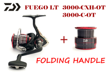 original DAIWA FUEGO LT 3000-C-OT 3000-CXH-OT folding handle 5.3:1/6.2:1 spinning fishing reel with extra spool