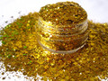 Gold Nail Polish Glitter Mix Solvent Resistant Glitter Blend for Nail Polish nail art