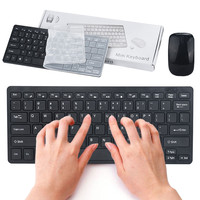 ISHOWTIENDA 11 11 New Arrival Slim Mini 2 4G Cordless Wireless Optical Keyboard Mouse Kit For