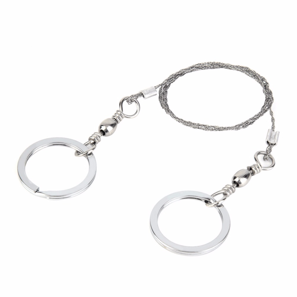 1PC Wire Saw Ring Scroll Stainless Steel Outdoor Practical Camping Hiking Hunting Climbing Emergency Survival Gear Tools Travel