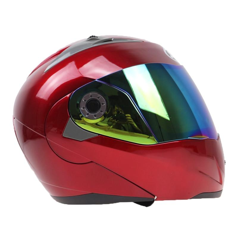 2016 Nieuwe Collectie Motorhelmen Klap helm op met zonneklep voor - Motoraccessoires en onderdelen - Foto 2