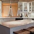 Luzes de cristal led pingente lâmpada lustre com e14 edison lâmpada de iluminação da sala de jantar moderna luminária sombra de vidro para cozinha