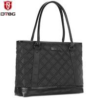 DTBG 15.6 15 Inch Portable Laptop Bag Totes for Women Water Resistant Shockproof Handbag Female Briefcase for HP ACER Macbook