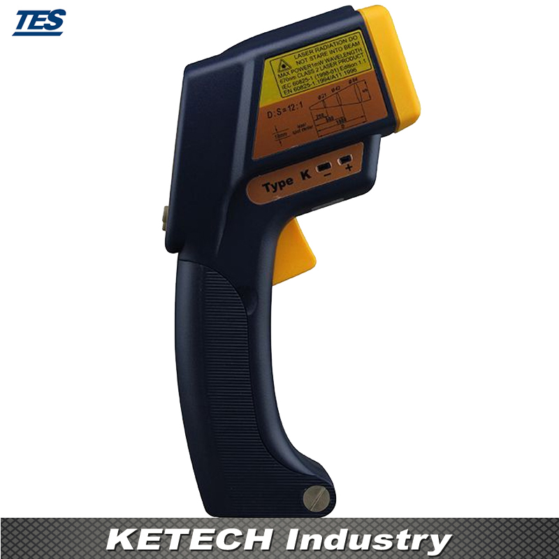 Infrared K Type Thermometer (2 in 1 Infrared:-35-500C Contact:-150-1350C) TES-1327K tes 1326s industrial infrared thermometer 35 500c