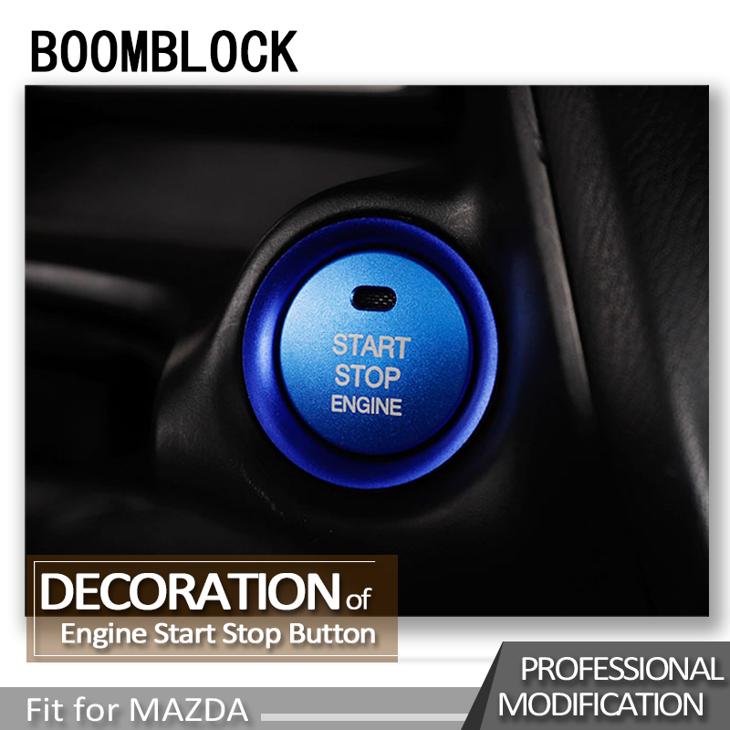 Auto Car Styling <font><b>Engine</b></font> Start Stop Ignition Stickers For <font><b>Mazda</b></font> <font><b>3</b></font> 6 CX-4 CX-5 CX 4 5 BM BN GJ1 GL Key Rings <font><b>Covers</b></font> Accessories image