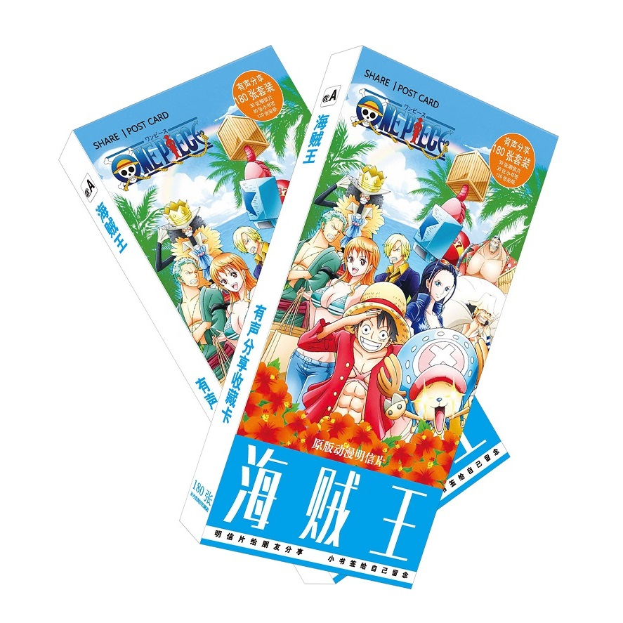 180pcs/Set Japanese Anime One Piece Postcard/Greeting Card/Message ...