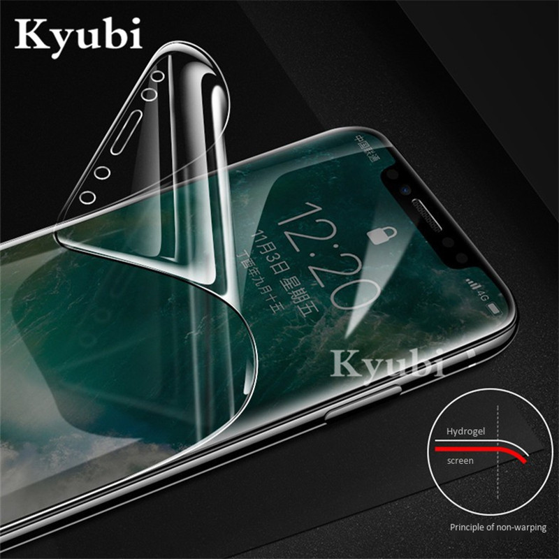 Hydrogel 10D Full Screen Protective Film For Google Pixel 2 XL Ultra thin Film For Google Pixel 3 XL Ultra Full Body Soft Film in Phone Screen Protectors from Cellphones Telecommunications
