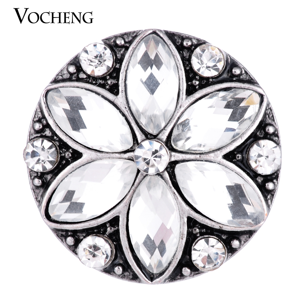 Vocheng Snap Charms 2 Colors Rhinestone 18mm Glam Button Jewelry Vn-1329