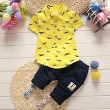 Newborn Baby Boy Clothes Set Blouse+Pant Infant Clothing Summer Outerwear Sport Kids Boy Cloth Children Kid Suit High Quality